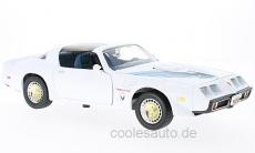 Pontiac Firebird Trans Am, weiss/Dekor 1:18