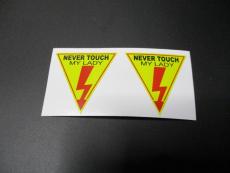 2 mal Never touch my Lady Sticker, Aufkleber ! Sticker, Aufkleber