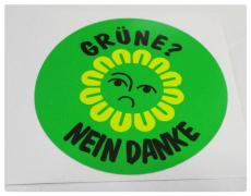 Grüne nein DANKE ! , anti Aufkleber g1-029 Must have TOP Neu