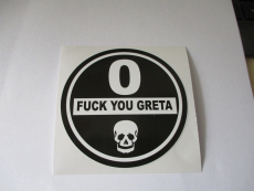 Fuck you Greta Feinstaubplakette Umweltplakette Aufkleber Sticker