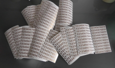 (100 Stück  ab  0,8 cm) Klebezahlen Aufkleber Arial
