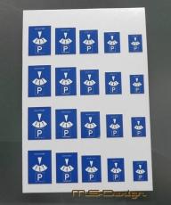 Parkscheiben Set Digitaldruck 1:18