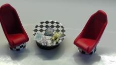 Tischset mit Schalensitz,( Race Look ) Maßstab 1:18 Modellbau / Dioramabau