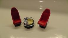 Tischset mit Schalensitz Maßstab 1:18 Modellbau / Dioramabau
