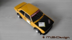 Audi 80 GTE, 1972, yellow / black Gruppe 2 Umbau 1:18