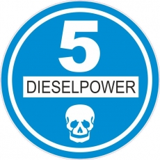 Feiner Staub Plakette Blaue Plakette Dieselpower 5 Sticker, JDM, Aufkleber