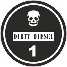 Feiner Staub Plakette Schwarze Plakette Dirty Diesel Sticker, JDM, Aufkleber