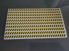 Gefahrenstreifen  ACHTUNG   1 DIN A 4 Blatt 10 Streifen