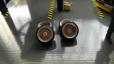 BBS RS 3 Teilig  Alufelge in 16 Zoll fertig lackiert oder unlackiert  mit Metall Bremmsscheiben  im Maßstab 1:18