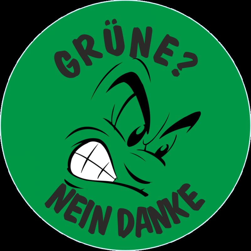 Grüne nein DANKE ! , anti Aufkleber b1-172c Must have