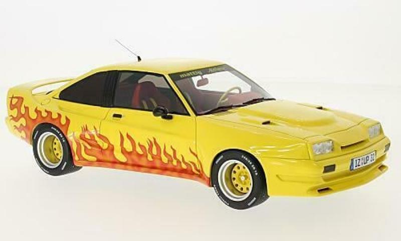 Opel Manta B Mattig, gelb/Dekor, 1:18, BoS-Models neu und OVP