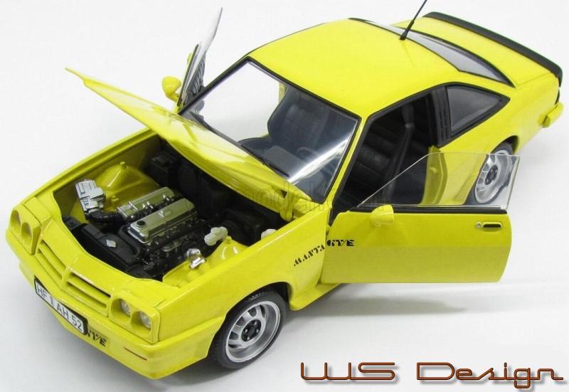 Opel Manta B   Revell gelb 1:18