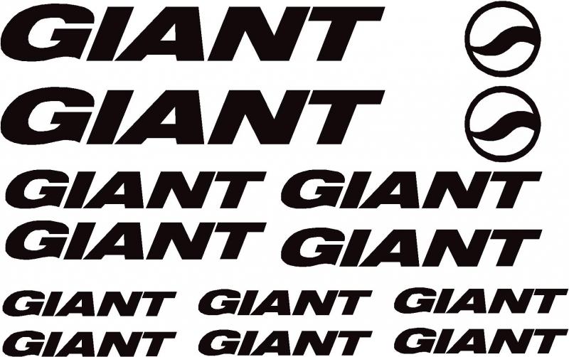 Giant BIKE Aufkleber SET Einzelbuchstaben auf Trägerfolie neu