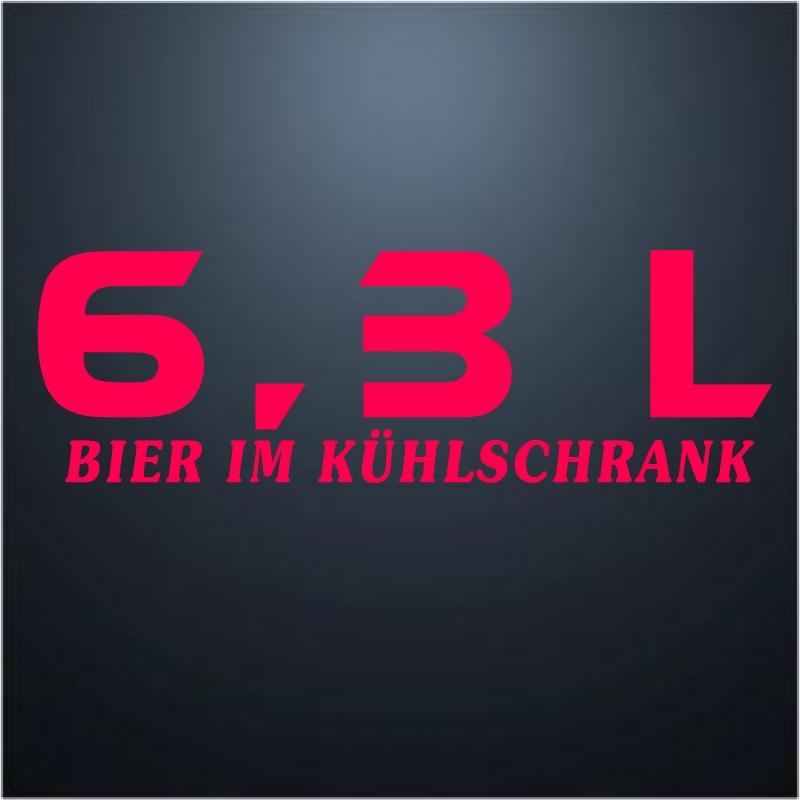 6,3 Liter Bier im Kühlschrank