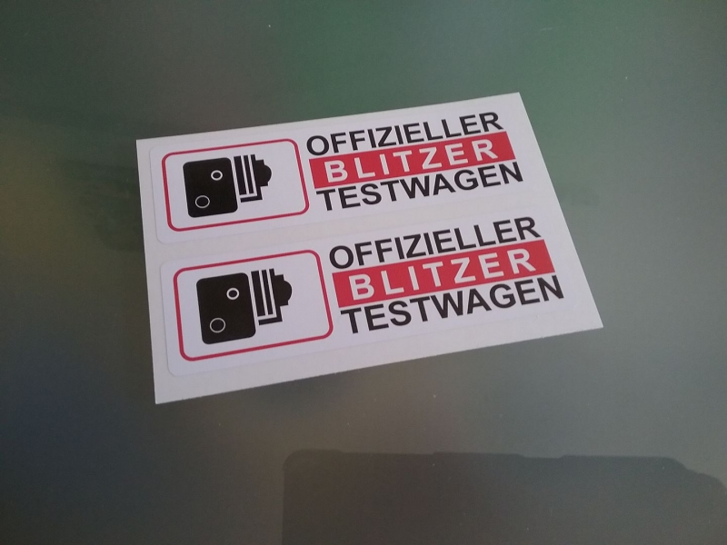 Offizieller Blitzer Testwagen