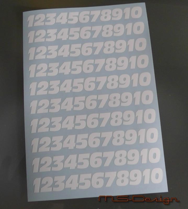 ( 100 Stück ab 1 cm  ) Klebezahlen ,Aufkleber Antolni