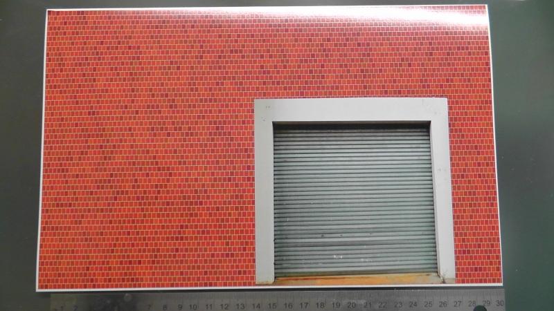Backsteinmauer mit Tor für  Hintergrund Diorama  selbstklebend