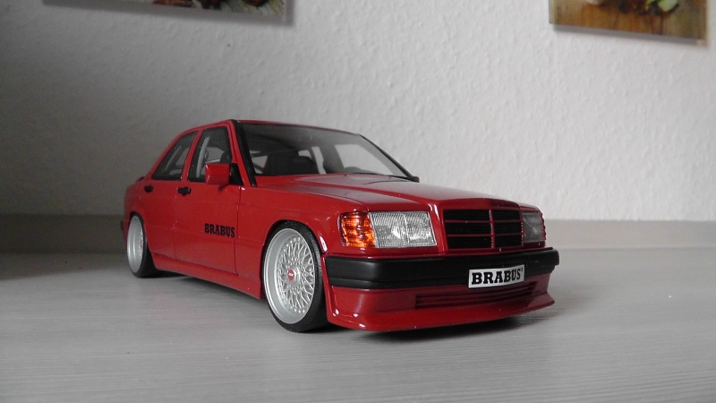 brabus mercedes 190e 3 6s mit bbs felgen 1 18. Black Bedroom Furniture Sets. Home Design Ideas