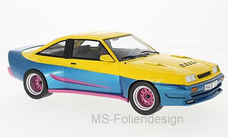 Opel Manta B Mattig, gelb/blau, 1991