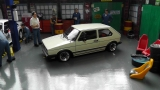 VW Golf I GTI, weiss, 1982 mit ATS Echtaluminium Felgen  1:18