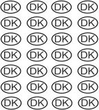 Dänemark ( DK) Kennzeichen Modellbau 1:18