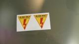 2 X  Aufkleber 40.000 VOLT   Hochspannung !    Sticker, Zündspule,  NEU