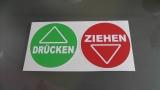 DRÜCKEN und ZIEHEN Aufkleber Aufkleber Sticker Warnschild Türschild