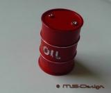 Ölfass ROT 200 Liter  mit OIL Druck  Maßstab 1:18