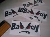 Bad Boy Einzelbuchstaben auf Trägerfolie