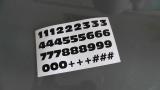 36 Stück Klebezahlen 1,4 cm Hoch Zeichen Ziffern Zahlen Aufkleber Anatol