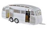 Wohnwagen Anhänger Caravane Henon 1955 Weiß  -1:18