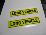 2 mal Long Vehicle Aufkleber Sticker Warnschild Türschild