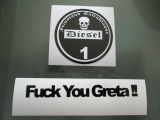 Aufkleber Set Plakette plus Fuck You Greta! Sticker must have Neu jdm