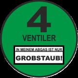 4 Ventiler Grobstaub ! / FUN / JDM / Autoplakette NEU