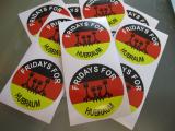 Fridays for Hubraum Crank German Aufkleber Sticker
