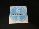 Feiner Staub Plakette Blaue Plakette Dieselpower 6 Sticker, JDM, Aufkleber