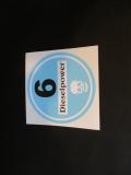 Feiner Staub Plakette Blaue Plakette Dieselpower 6 , schwarze Schrift Sticker, JDM, Aufkleber