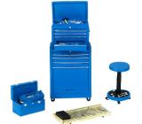 Motorhead 190 The Brigade Tool Set blau / Werkstatt-Zubehör Werkzeug  1:18