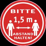 Abstand halten Bitte 1,5 Meter Ø 80mm Corona Geschäfte