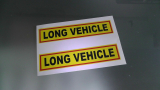 1 mal Long Vehicle Aufkleber Sticker Warnschild LKW 180 X 40 mm