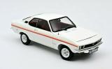 Opel Manta A Swinger 1975 weiß, fertiges Modellauto von Norev aus Metall im Maßstab 1:18.