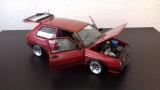 VW Golf GTI 1990 - Rot metallic - mit Uli Nowak ATS Classic Echtaluminium Felgen - 1:18
