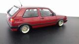 VW Golf GTI 1990 - Rot metallic - mit Uli Nowak BBS E30 Echtaluminium Felgen - 1:18