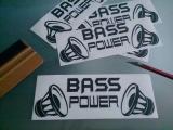 Bass Power / Aufkleber