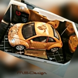 Bburago New Beetle  Wespe   1:18 Airbrush