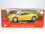 BBURAGO 1:18 Ferrari 360 Modena gelb Neu in der OVP