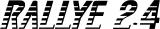 Opel Kadett Rallye Aufkleber in 2,4Liter