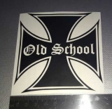 Sticker  Old School    IRON Cross