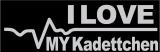 Herzschlag I Love my Kadettchen in weiß, JUX / Sticker/ JDM