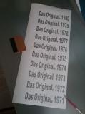 Das Original 1971 - 1980 Aufkleberset 10 Stück von 71-80 Neu